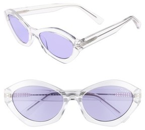 Quay Women's #quayxkylie 54Mm As If Oval Sunglasses - Clear/ Purple