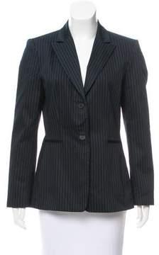 Tahari Arthur S. Levine Striped Button-Up Blazer
