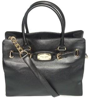 Michael Kors New Hamilton Large Ns Tote Black Leather Shoulder Bag Handbag - ONE COLOR - STYLE