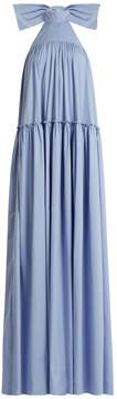 Caroline Constas Bo halterneck dropped-waist cotton dress