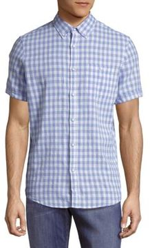 Report Collection Casual Button-Down Check Shirt