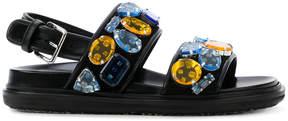 Marni jewelled Fussbett sandals