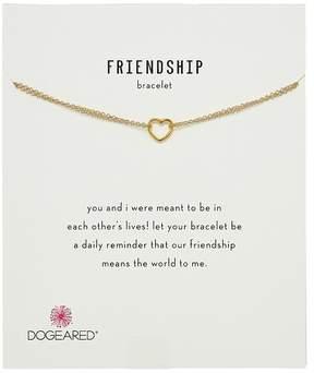 Dogeared Friendship Bracelet, Small Open Heart Chain Bracelet Bracelet