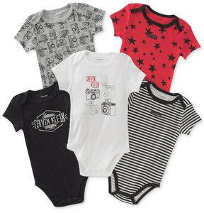 Calvin Klein 5-Pk. Printed Bodysuits, Baby Boys (0-24 months)