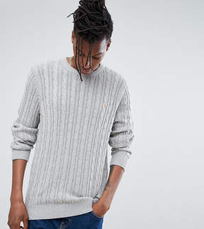 Farah Ludwig Cable Knit Sweater in Gray