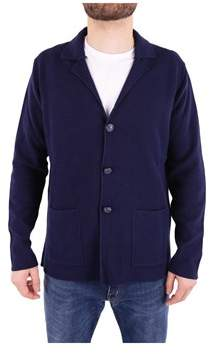 Trussardi Men's Blue Cotton Cardigan.