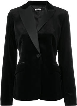 P.A.R.O.S.H. fitted velvet jacket