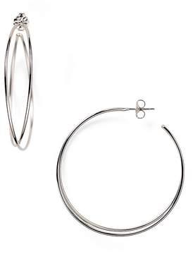 Bloomingdale's Sterling Silver Crossover Hoop Earrings - 100% Exclusive