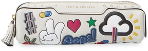 Anya Hindmarch Women's Allover Wink Stickers Pencil Case