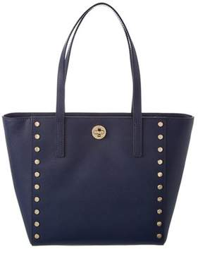 MICHAEL Michael Kors Rivington Leather Stud Tote. - NAVY - STYLE
