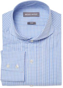 Michael Bastian Gray Label Men's Trim Fit Checkered Dress Shirt