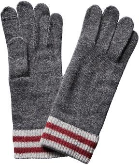 Portolano Men's Grey Cashmere Gloves