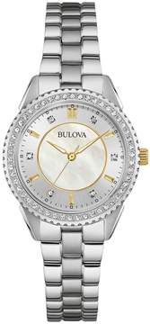 Bulova Men's Mother of Pearl Stainless Steel Watch, 30mm