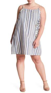 Angie Floral Embroidered Striped Dress (Plus Size)