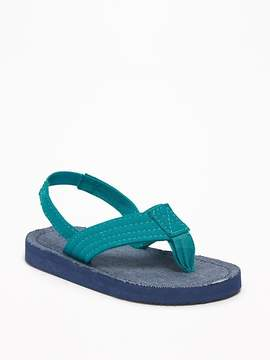 Old Navy Chambray Flip-Flops for Toddler Boys