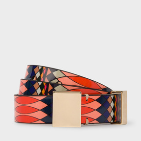 Paul Smith No.9 - Women's Multi-Coloured Patent Leather Belt