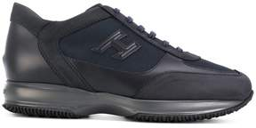 Hogan canvas-panelled sneakers