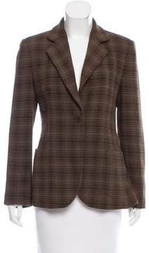 Emporio Armani Structured Wool-Blend Blazer