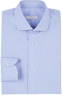 Boglioli Men's Glen Plaid Poplin Slim Shirt