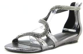 Thalia Sodi Clara Women Open Toe Synthetic Gray Gladiator Sandal.