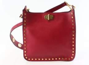 Michael Kors Cherry Red Leather Medium Sullivan Messenger Purse - REDS - STYLE