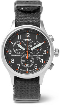 Timex Scout Stainless Steel And Webbing Watch