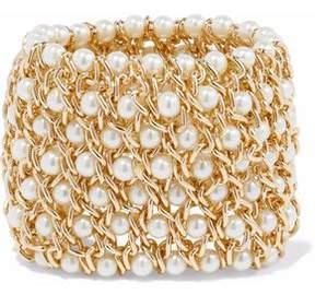 Kenneth Jay Lane Gold-Tone Faux Pearl Bracelet