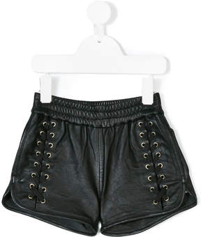 Little Remix lace-up design shorts
