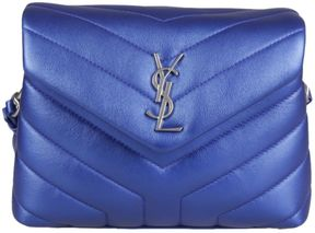 Saint Laurent Monogram Crossbody Bag - BLU - STYLE