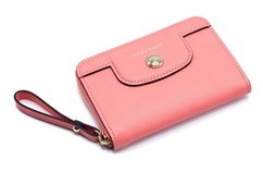 Longchamp Women's Peach Le Pliage Héritage Coin Purse. - PEACH - STYLE