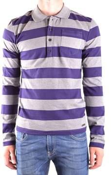 Galliano Men's Purple Cotton Polo Shirt.