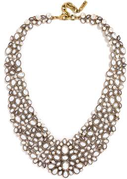 Ivory 'Kew' Crystal Collar Necklace