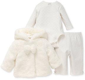 Little Me 3-Pc. Faux-Fur Jacket, Bodysuit & Leggings Set, Baby Girls (0-24 months)