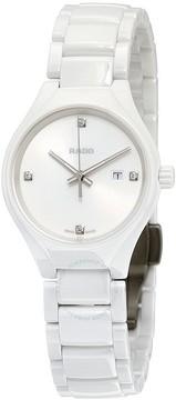 Rado True High-tech White Ceramic Diamond Ladies Watch