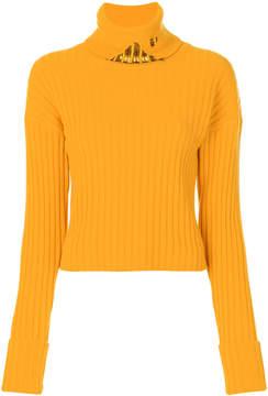 Aviu roll neck embellished jumper