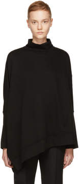 Ann Demeulemeester Black Asymmetric Turtleneck
