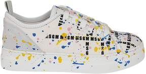 MSGM Logo & Paint Splat Sneakers
