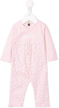 Armani Junior ruffle-trimmed duck print pyjama