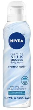 NIVEA Silk Mousse Body Wash Crème Soft - 6.8oz