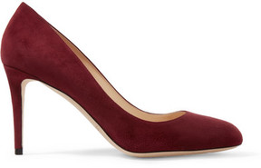Jimmy Choo Bridget 85 Suede Pumps - Burgundy