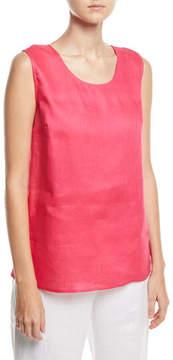 Caroline Rose Tissue-Linen Long Tank Top, Petite