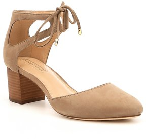 Antonio Melani Accorde Nubuck Ankle Tie Detail Pumps