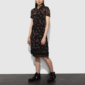 COACH COACH SHIRTDRESS - BLACK MULTI