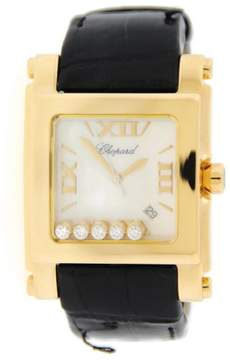 Chopard Happy Sport 28/3570 Square XL 18K Yellow Gold Watch