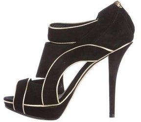Christian Dior Suede Platform Booties
