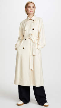 Elizabeth and James Dakota Viscose Pique Draped Trench Coat