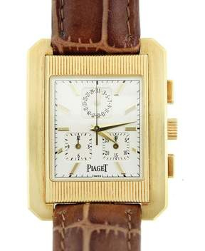 Piaget 18K Yellow Gold Protocole Chronograph 32mm Mens Watch