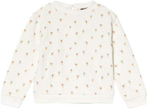 Emile et Ida White Ice Cream Print Sweatshirt