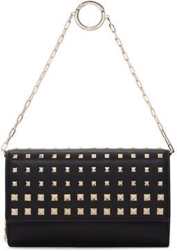 Valentino Black Garavani Rockstud Wallet Chain Bag