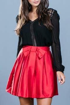 Ark & Co Red Cocktail Skirt